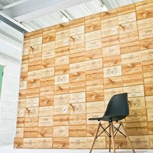 木箱風可動式ボードとシンプルチェア